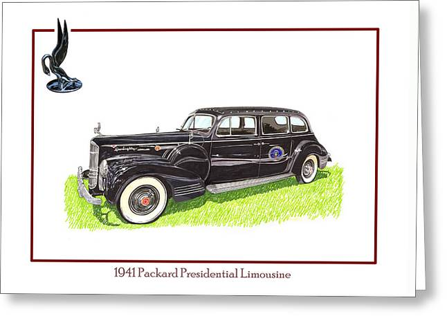 1941 Packard 180 Presidential Limousine Greeting Card by Jack Pumphrey