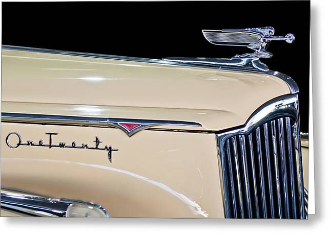 1941 Packard Hood Ornament Greeting Card by Jill Reger