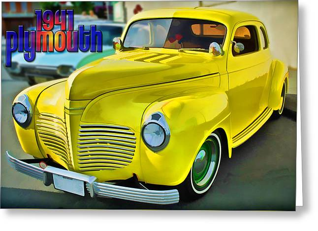 1941 Plymouth Greeting Card