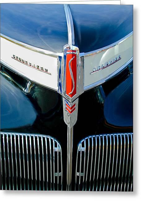 1941 Studebaker Champion Hood Emblem Greeting Card by Jill Reger