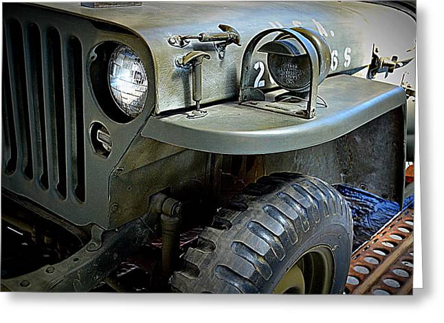 1942 Ford U.s. Army Jeep Ll Greeting Card by Michelle Calkins
