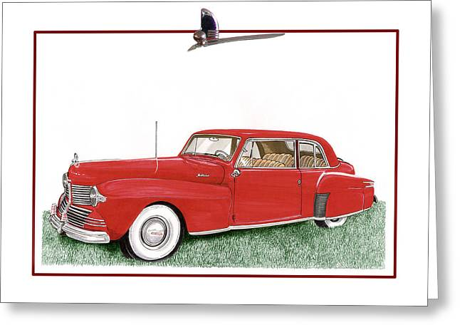 1942 Lincoln Continental Coupe Greeting Card by Jack Pumphrey