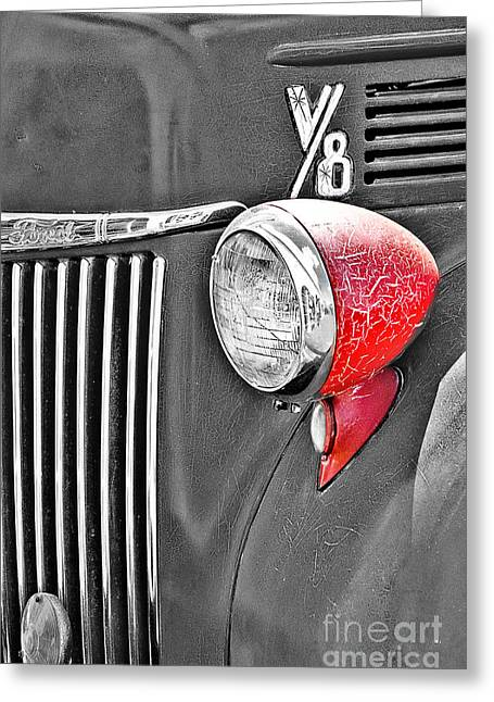 1944 Ford Pickup - Headlight - Sc Greeting Card by Mary Carol Story