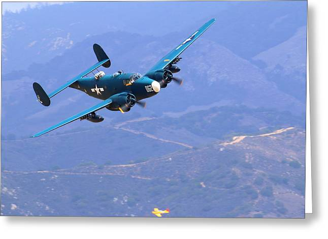 1944 Lockheed Pv-2 Harpoon Pays A Visit At The Salinas Air Show Greeting Card by John King
