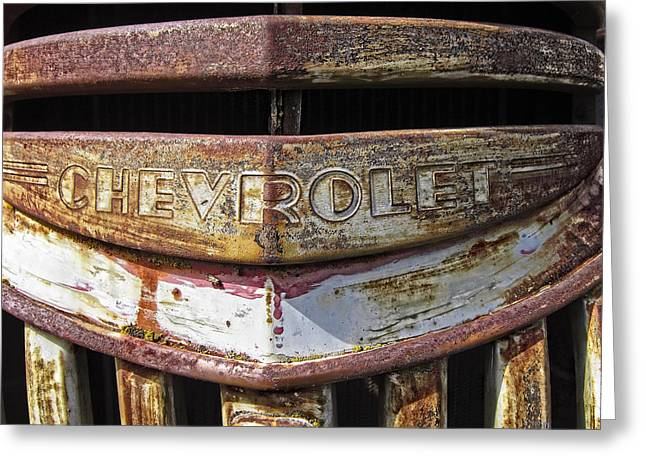 1946 Chevrolet Truck Grill And Emblem Greeting Card