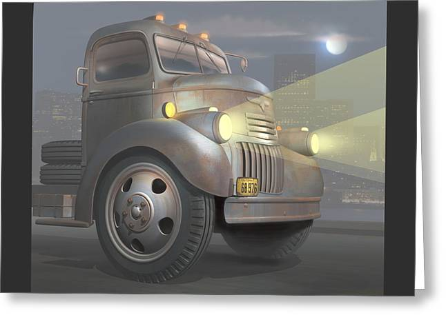 1946 Chevy Coe Greeting Card by Stuart Swartz