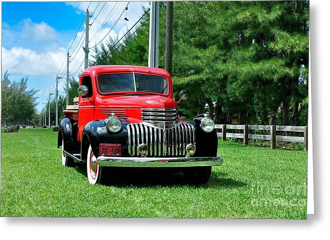 1946 Chevy Short Bed Greeting Card by Andres LaBrada