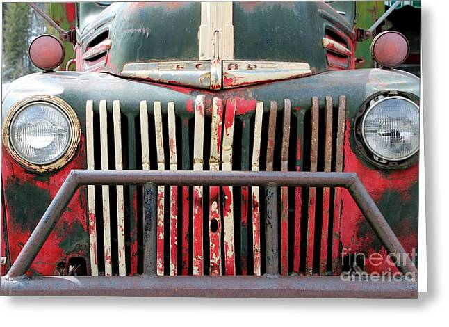 1946 Vintage Ford Truck Greeting Card by Fiona Kennard