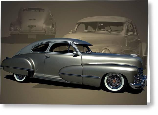 1947 Cadillac Custom Street Rod Greeting Card
