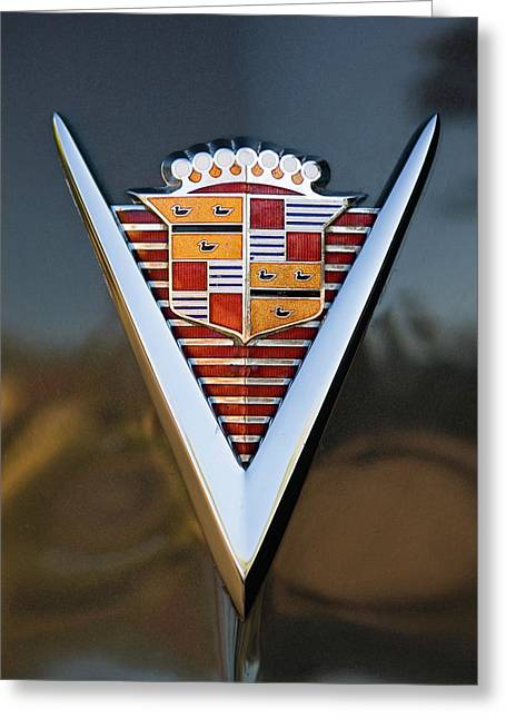 1947 Cadillac Emblem Greeting Card by Jill Reger
