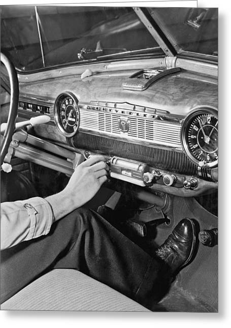 1947 Chevrolet Dashboard Greeting Card by E. Earl Curtis