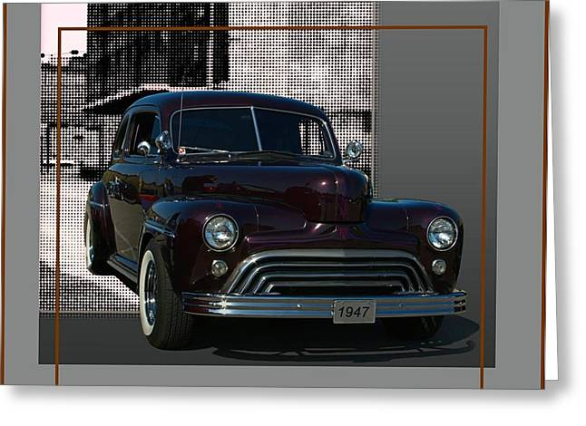 1947 Ford Custom With 47 Chevy Grill  Greeting Card