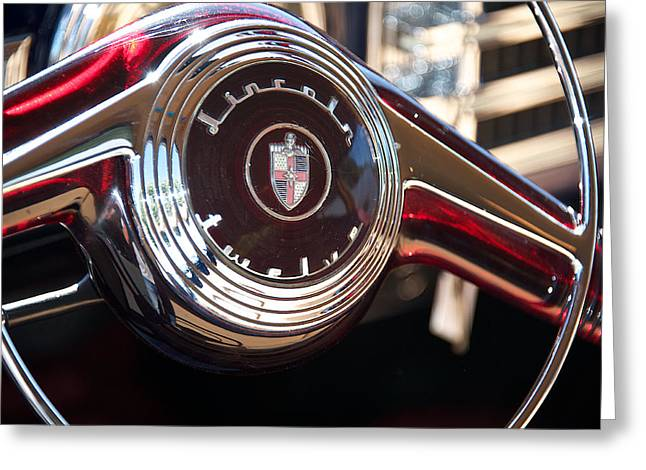 1947 Lincoln Continental Detail Greeting Card