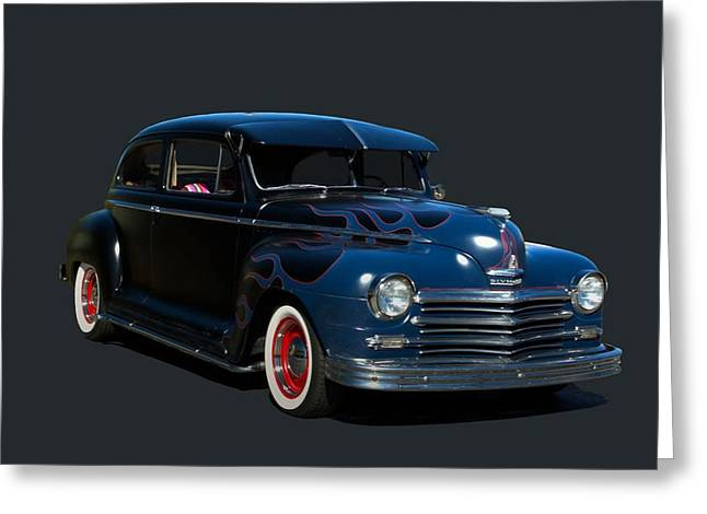 Greeting Card featuring the photograph 1947 Plymouth by Tim McCullough