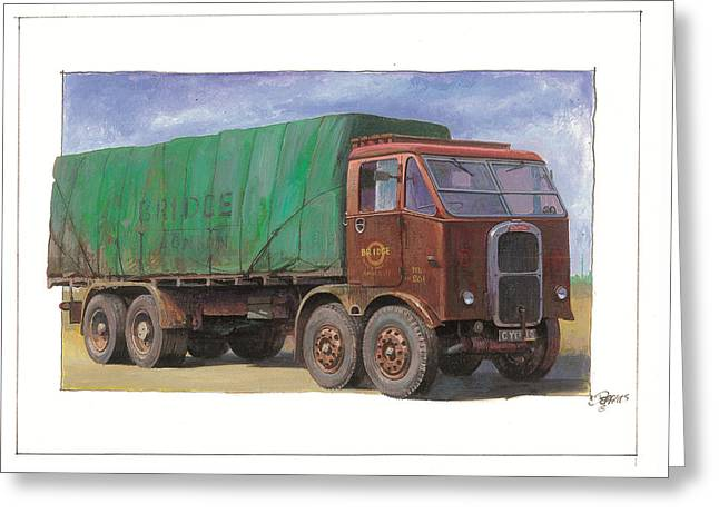 1947 Scammell R8 Greeting Card by Mike  Jeffries