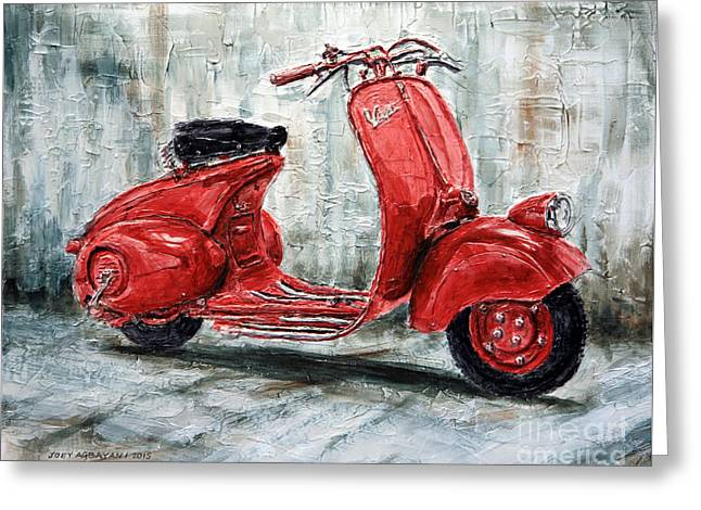 1947 Vespa 98 Scooter Greeting Card