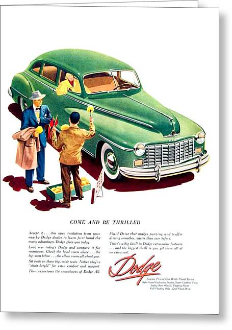 1948 - Dodge Automobile Advertisement - Color Greeting Card by John Madison