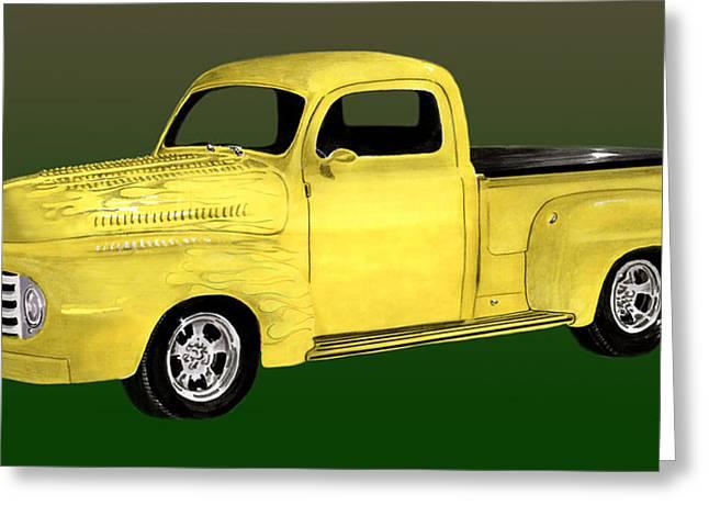 1948 Custom Ford Pick Up Greeting Card by Jack Pumphrey