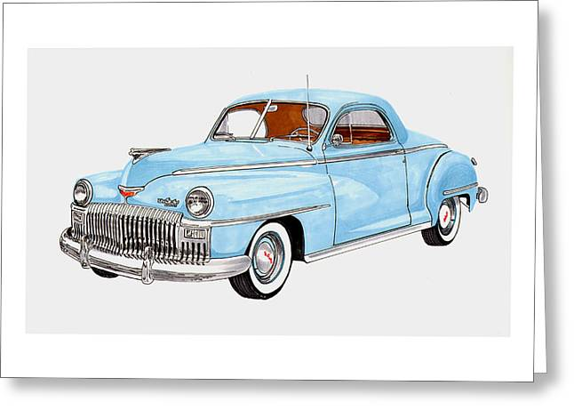 1948 Desoto Business Coupe Greeting Card by Jack Pumphrey