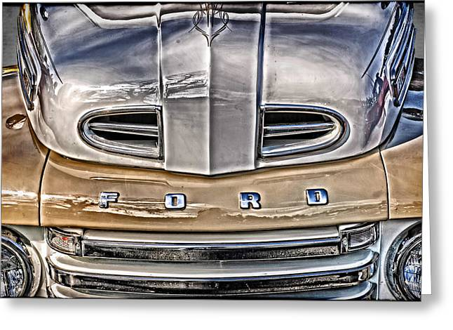 Greeting Card featuring the digital art 1948 Ford Pickup by Richard Farrington