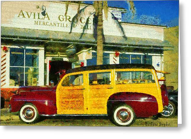 1948 Ford Woody Station Wagon Greeting Card by Barbara Snyder