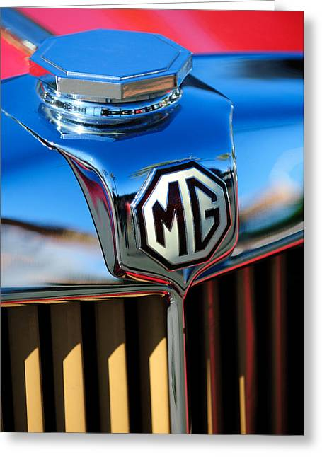 1948 Mg Tc Hood Ornament -767c Greeting Card