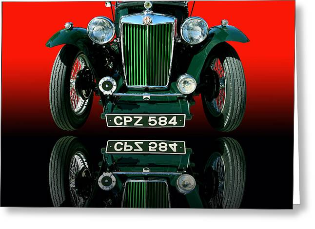 1948 Mg Tc Roadster Greeting Card by Jim Carrell