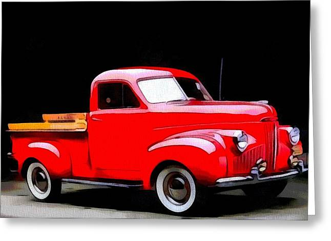 1948 Studebaker Truck Greeting Card by Dan Sproul