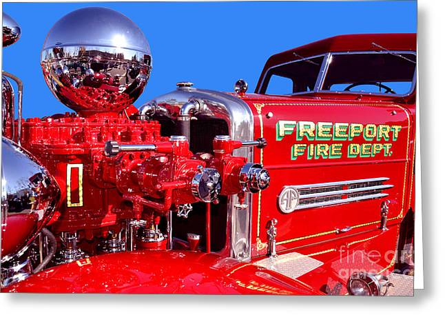 1949 Ahrens Fox Piston Pumper Fire Truck Greeting Card