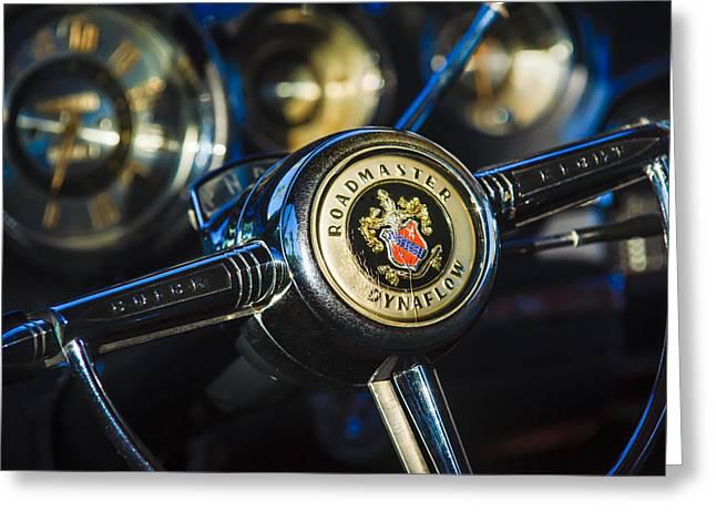 1949 Buick Roadmaster Riviera Coupe Steering Wheel Emblem Greeting Card