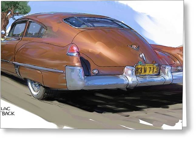 1949 Cadillac Fastback Greeting Card