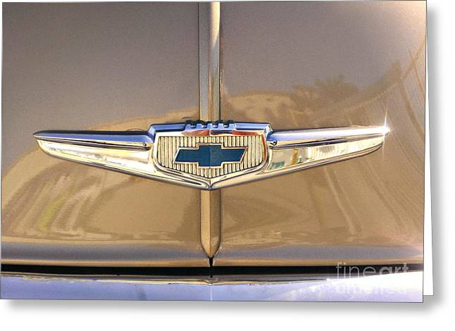 1949 Chevy Symbol  Greeting Card by Andres LaBrada