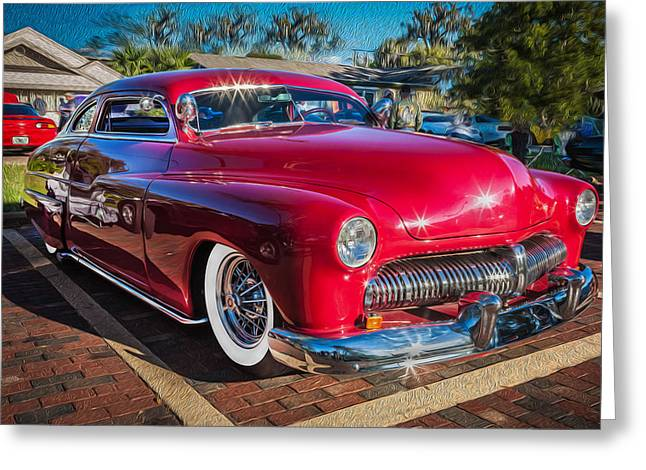 1949 Mercury Club Coupe Painted   Greeting Card by Rich Franco