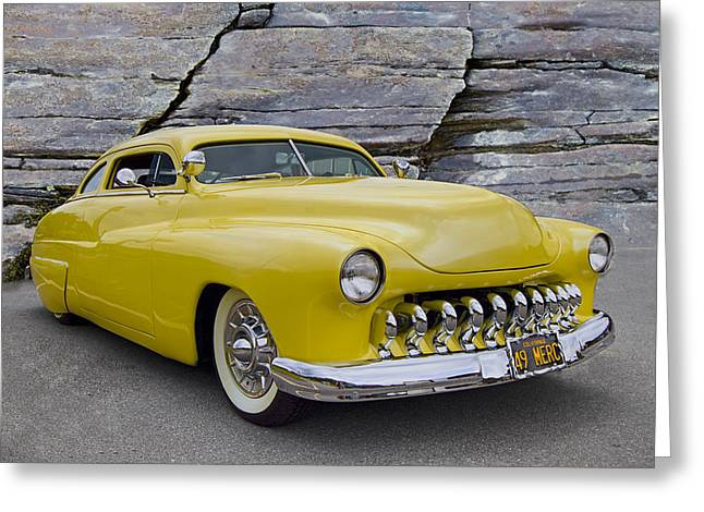 1949 Mercury Coupe Greeting Card by Debra and Dave Vanderlaan