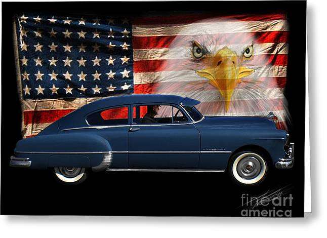 Greeting Card featuring the photograph 1949 Pontiac Tribute Roger by Peter Piatt