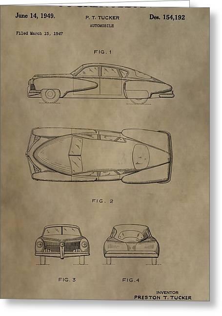 1949 Tucker Sedan Patent Greeting Card by Dan Sproul