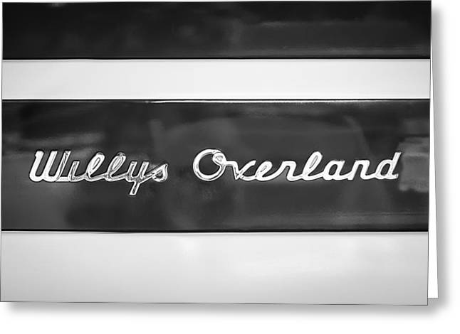 1949 Willys Jeep Station Wagon Emblem Greeting Card by Jill Reger