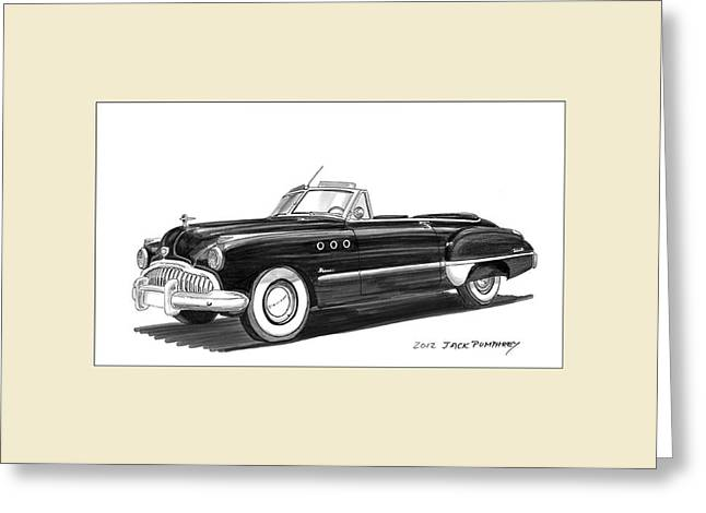 1950 Buick Special Convertible Greeting Card by Jack Pumphrey