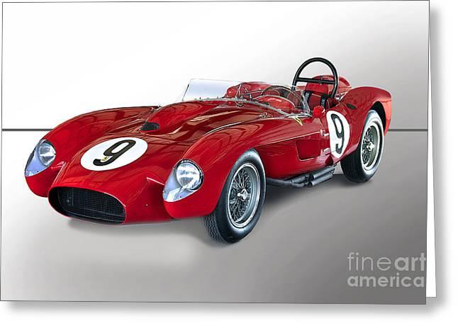 1950 Ferrari 250gt Testa Rossa 'studio' Greeting Card