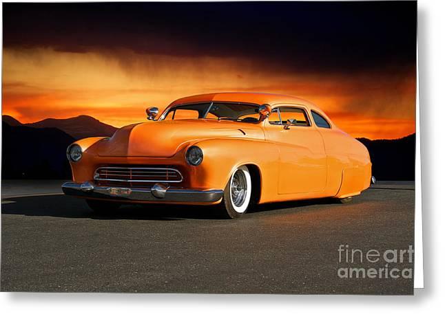 1950 Mercury 'boulevard Cruiser' Greeting Card by Dave Koontz