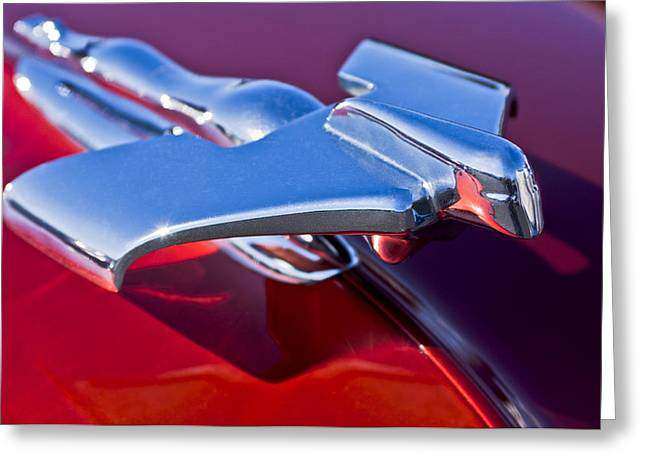 1950 Nash Hood Ornament Greeting Card by Jill Reger