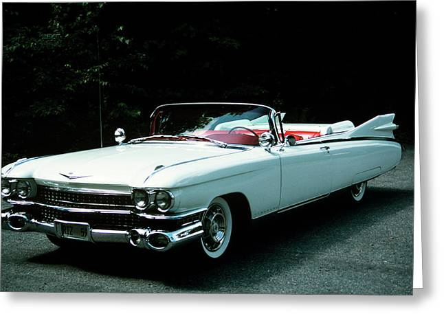 1950s 1959 El Dorado Biarritz Cadillac Greeting Card