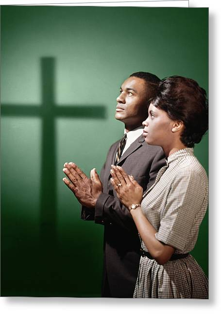 1950s 1960s African American Couple Man Greeting Card