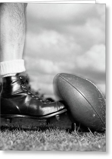 1950s 1960s Football Player Shown Greeting Card