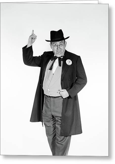 1950s 1960s Man In Old-time Politician Greeting Card