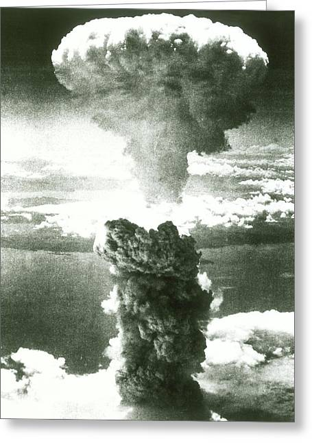 1950s Atomic Bomb Explosion Mushroom Greeting Card