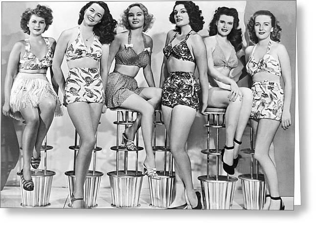 1950s Bathing Suits Greeting Card
