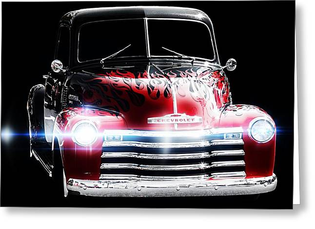Classic Car Greeting Card featuring the photograph 1950's Chevrolet Truck by Aaron Berg