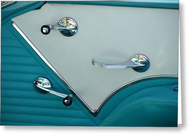 Greeting Card featuring the photograph 1950's Chevy Interior by Dean Ferreira