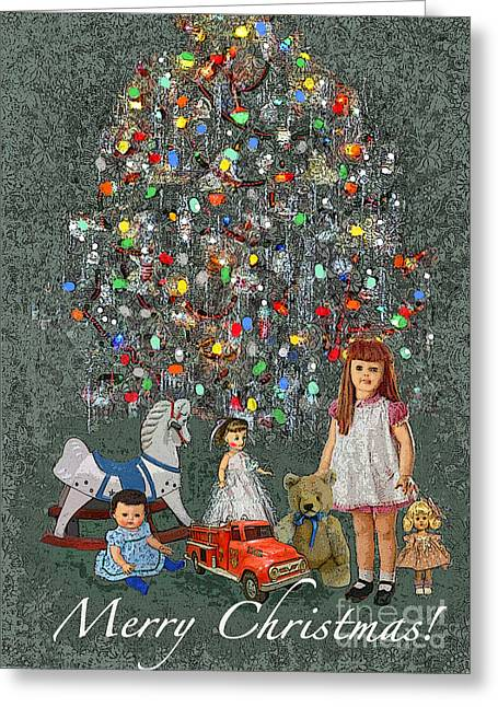 1950s Christmas Greeting Card by Maureen Tillman